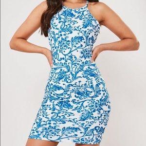 $5 W/ BUNDLE NWT Missguided Porcelain Halter Dress